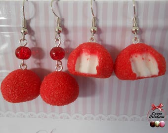 Strawberry candy earring