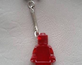 Key man toy red resin