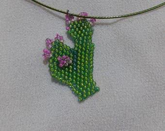 Necklace ras-neck rigid cactus