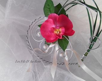 GAIA fuchsia Orchid ring bearer