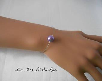 LANA violet/purple Pearl wedding bracelet