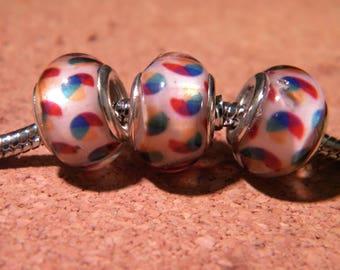 2 beads charm European - style 14 mm - 3 D104 pandor@-