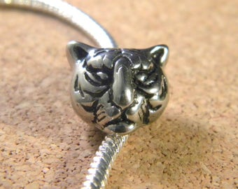 bead charm European style pandor@-Tiger-12 mm - C34-stainless steel