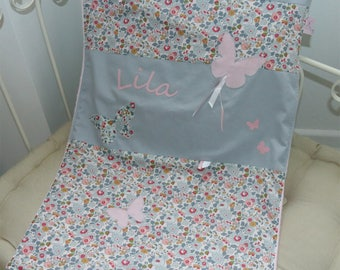 Cover liberty Betsy porcelain 70 x 100 doulee fleece to customize