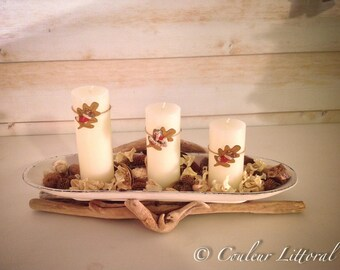 Candle holder on Driftwood No. 2