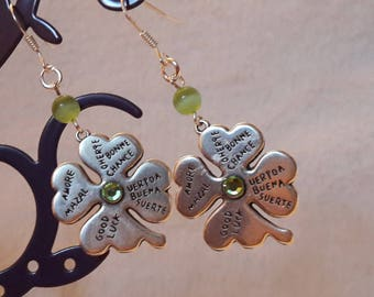 They attract good luck! These four leaf clover earrings!
