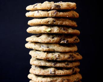 Dark Chocolate, Pistachio & Sea Salt Cookies, 1 Dozen