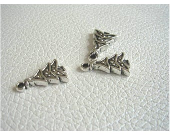 X 3 Silver tree charms