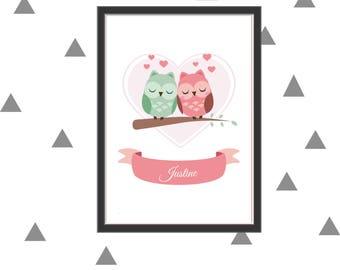 Owls love to print custom poster itself