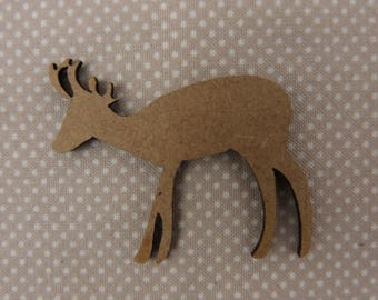 About wooden embellishment: reindeer