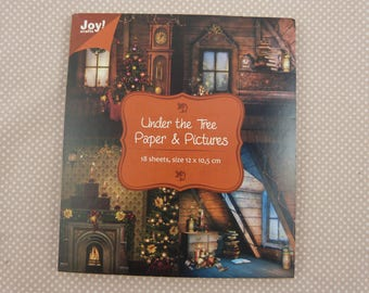 Block images of vintage Christmas for cardmaking