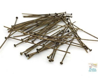 50 nails flat 50mm bronze (AP148)