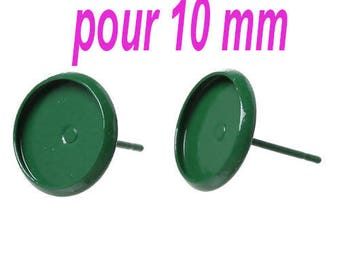 10 MM/20 blank earring studs for cabochon within 15 days