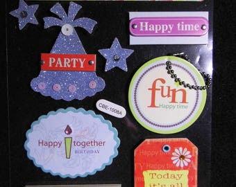 labels stickers scrapbooking anniversary birthday