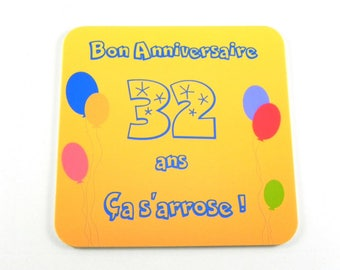 personalized gift coasters personalized happy birthday 30s Let's drink!