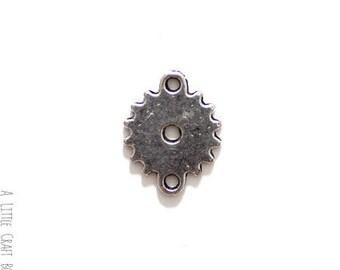 5 connectors 15mm steampunk COG - antique silver