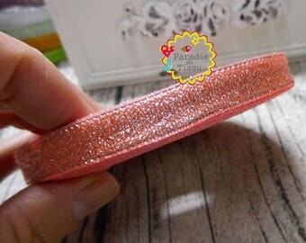 1 roll/22metres pink glittery orange 1 CM