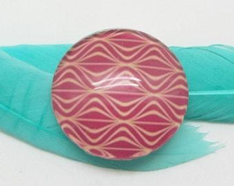 2 10 mm pink raspberry 1-10 mm glass cabochons