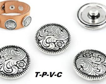 Metal snap ± 21x7mm (suitable for jewelry size: L)