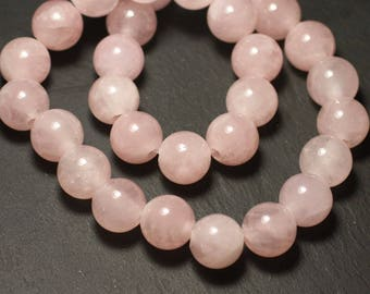 Stone - ball 14mm Rose Quartz bead 1pc - big hole 3mm - 8741140019508