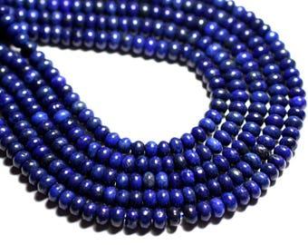 10pc - stone - Lapis Lazuli Rondelle 6x4mm - 4558550085511 beads