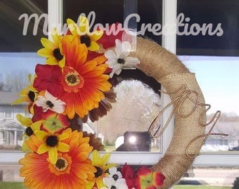 Joy Wreath 10' in with FREE SHIPPING