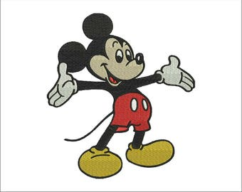 Mickey Mouse Embroidery Design - 4 sizes and 6 formats