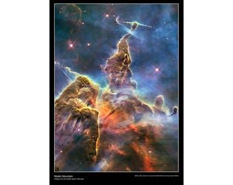 Hubble Space Telescope Poster 'Mystic Mountain' Paper Laminated A2