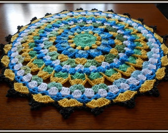 naperon crocheted cotton and acrylic candie 46cm in diameter