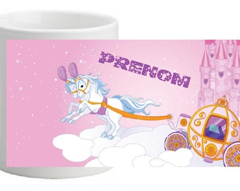 CERAMIC MAGIC MUG PERSONALISED WITH THE NAME OF YOUR CHOICE