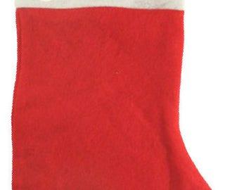 """LITTLE FOX"" FELT CHRISTMAS STOCKING PERSONALIZED"