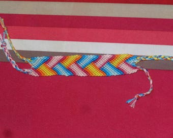Friendship Bracelet with bright colors