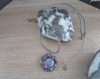 "Chic and stylish necklace and Medallion ""Merlot"""