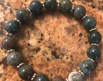 Moss Agate Healing Bracelet