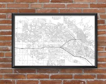 Boise, Idaho Map Art