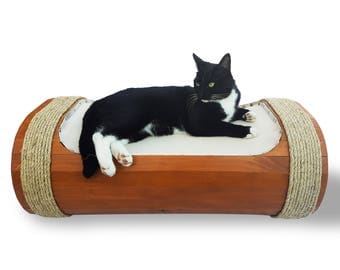 Stylish Cat Hammock and Tunnel Cat bed Kitten Bed Cat Scratcher