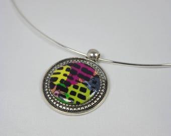 Round polymer clay pendant