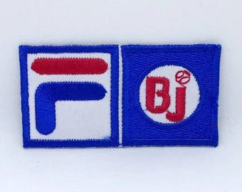 106# FiLA F BJ Pro Sports Logo Iron/ Sew-on Embroidered Patch / Badge