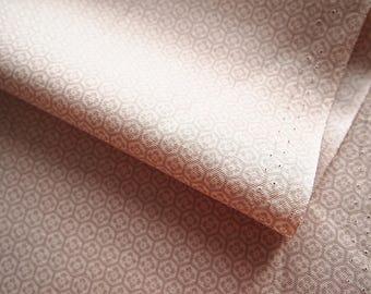 Fabric Japanese encoton small graphic beige 137 * 50 cm