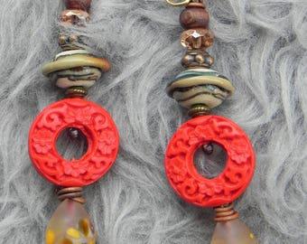 small earrings Asian