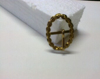 Oval Loop brass passage 1.5 cm * BO122 *.