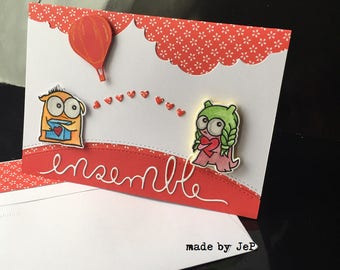 """tender and romantic card """"set""""."""
