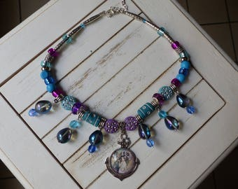 Choker necklace with water drops