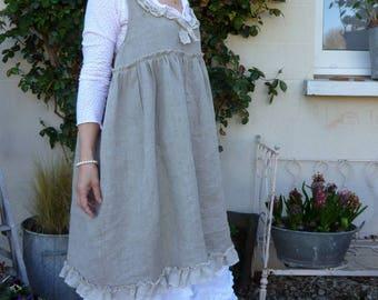 rustic linen dress models Linette