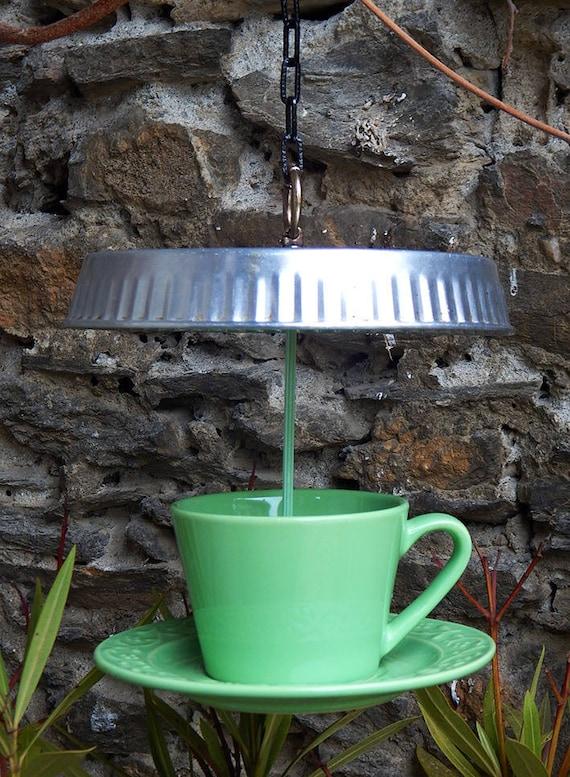 """Green tea"" bird ornament"