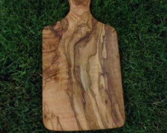 Unique natural olive wood chopping board with handle handmade cutting board for vegetables fruit cheese