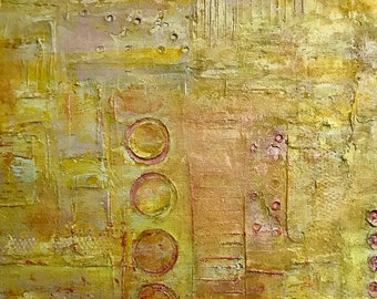 "Titled:""Golden"" - original abstract artwork"