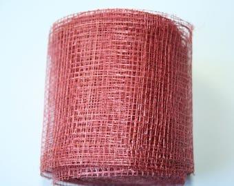 Pink Ribbon mesh 7.5 cm 9 meters