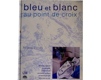 Book blue and white cross stitch - designs embroidery blue on white