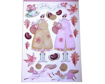 Paper Tilda cutting - board Tilda autumn garden collection